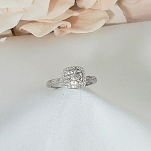 New 35 Genuine Diamonds Cathedral Style Ring 7